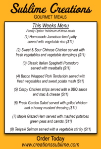 Check Out This Weeks Menu And Head Over To Their Site Order Your Meals Today