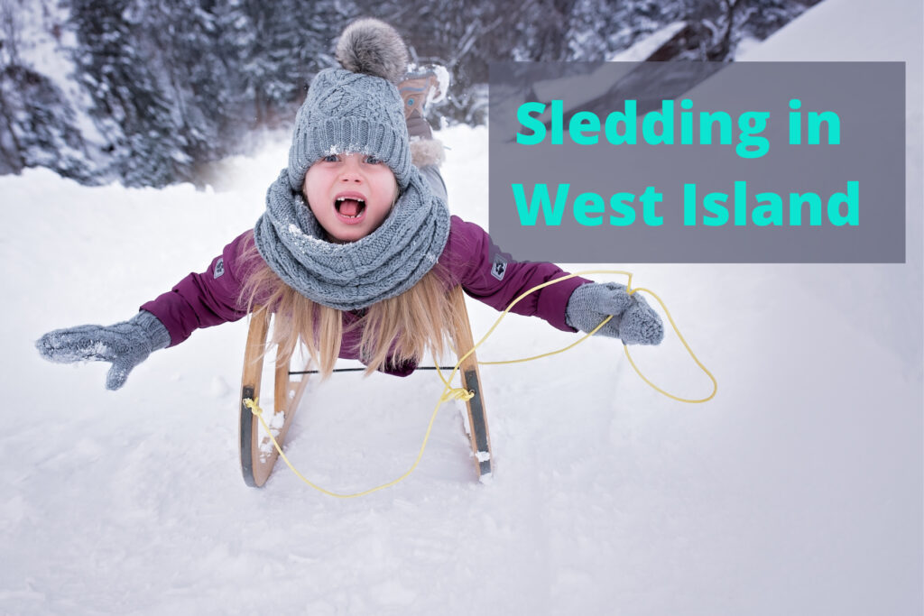 Sledding in west island