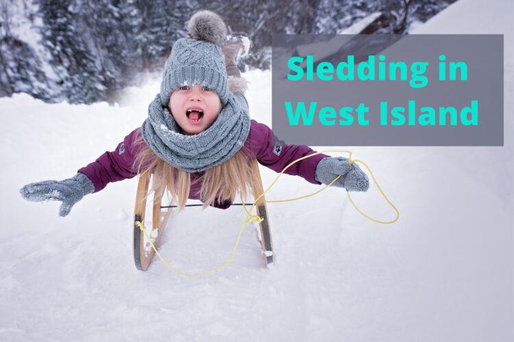 Sledding in west island