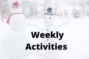Winter Weekly Activities